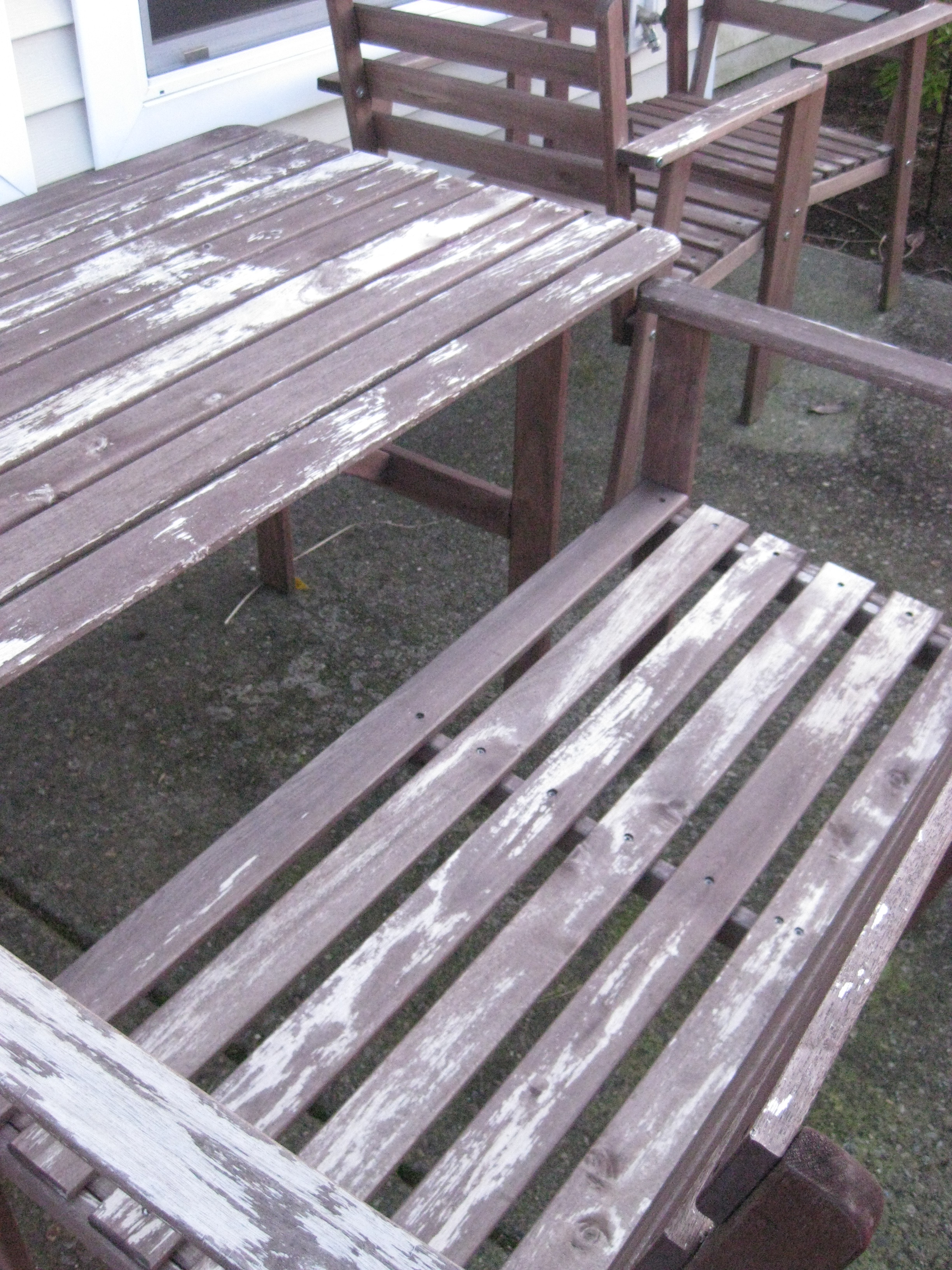 Garden Furniture Stain help us revive our ikea patio set