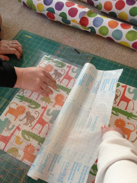o's drawer liners-applying contact paper