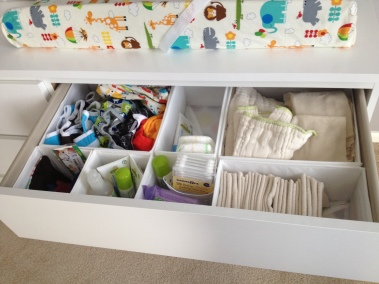 changing table-diapers and accessories