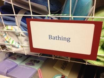 closet basket label