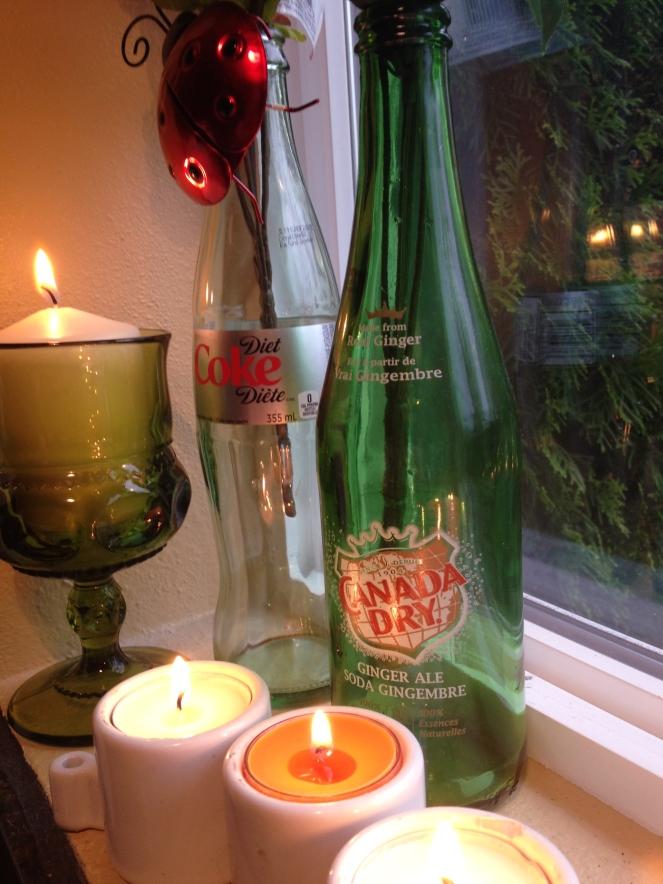 glass bottle vases (4)