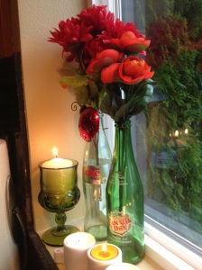 glass bottle vases (5)