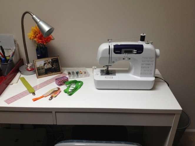 office-desk as sewing table