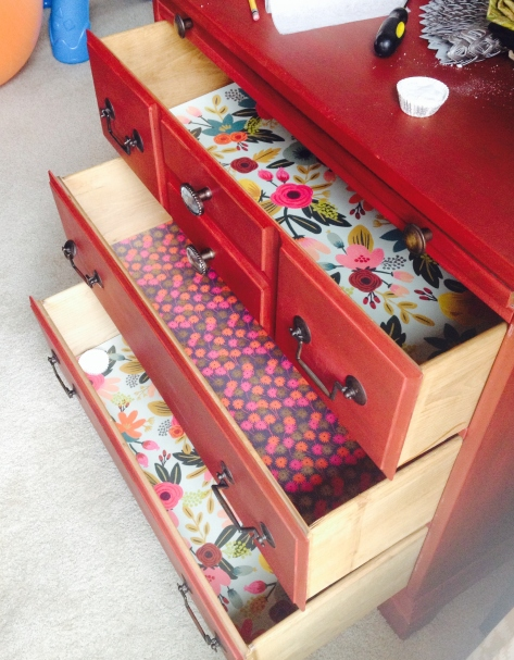 All three drawers jazzed up!