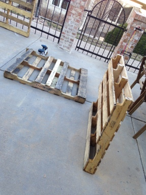 Step 1: Cut Pallets to size